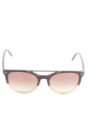 Rodenstock Panto Glasses cream-black brown simple style