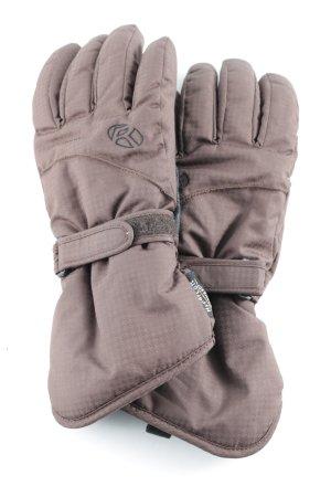 Rodeo Gevoerde handschoenen grijs-bruin-zwart atletische stijl