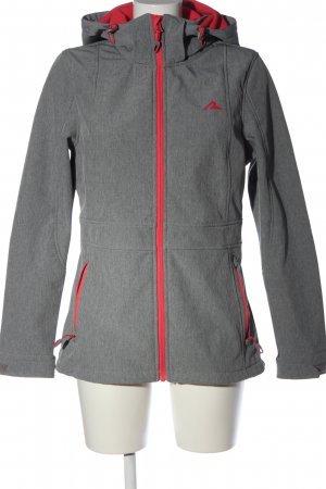 Rodeo Hoody light grey-red flecked casual look mixture fibre
