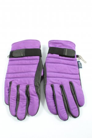 Rodeo Gants en similicuir violet-noir style décontracté