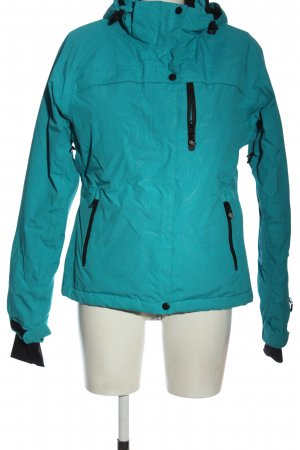 Rodeo Outdoor Jacket turquoise-black striped pattern casual look