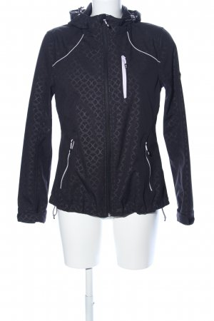 Rodeo Outdoor Jacket black abstract pattern casual look