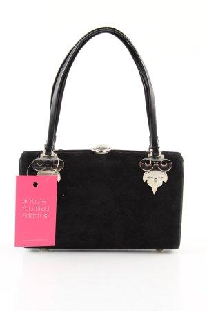 Rodo Handtasche schwarz Motivdruck extravaganter Stil