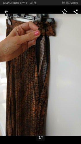 H&M Jupe taille haute brun-brun foncé polyester