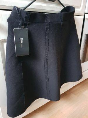Zara Basic Spódnica ze stretchu czarny