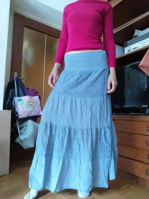 Falda de encaje azul aciano