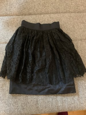 100% Fashion Flared Skirt black