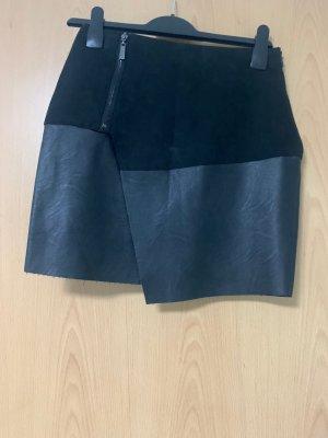 New Yorker Falda de cuero negro