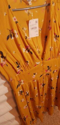 C&A Falda asimétrica naranja dorado