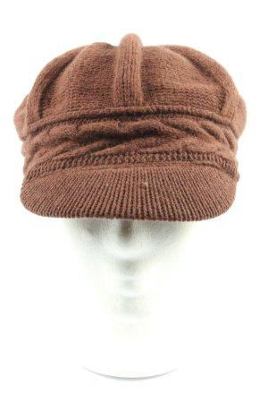 Roeckl Casquette gavroche brun torsades style décontracté