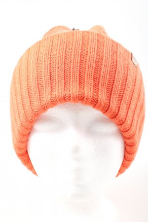 Roeckl Beanie light orange cable stitch casual look