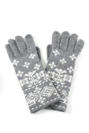 Roeckl Fingerhandschuhe hellgrau-weiß Casual-Look