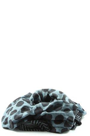 Roeckl Écharpe à franges gris clair-noir motif de tache style décontracté