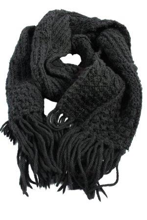Roeckl Écharpe à franges noir style décontracté