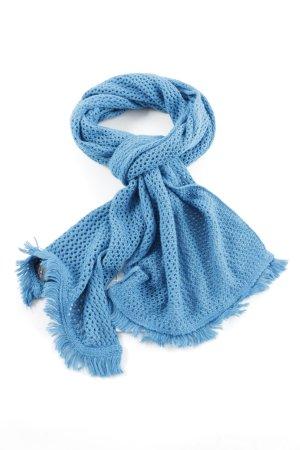 Roeckl Écharpe à franges bleu style décontracté