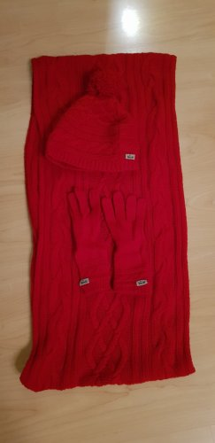 Roeckl Écharpe en laine rouge foncé