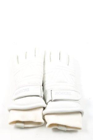 Roeckl Gevoerde handschoenen wit casual uitstraling