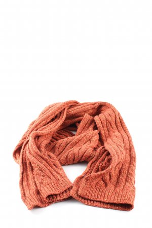 Roeckl Crochet Scarf light orange flecked casual look