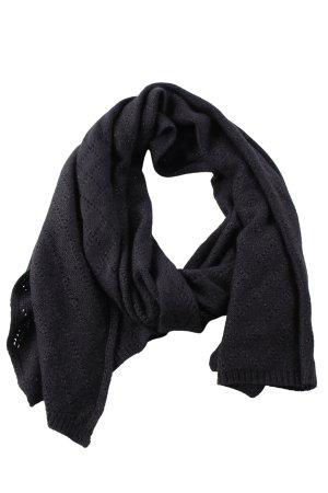Roeckl Écharpe en crochet noir-argenté style décontracté