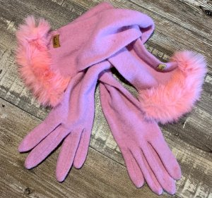 Roeckl Guanto in maglia rosa-rosa