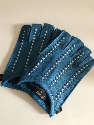 Roeckl Leather Gloves neon blue-cornflower blue