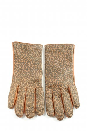 Roeckl Leather Gloves leopard pattern casual look