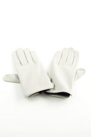 Roeckl Guanto in pelle bianco stile professionale