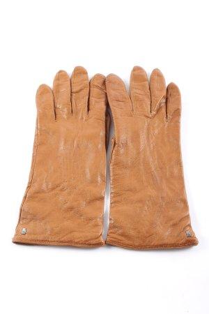 Roeckl Guantes de cuero marrón look casual