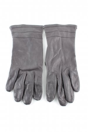 Roeckl Leather Gloves light grey casual look