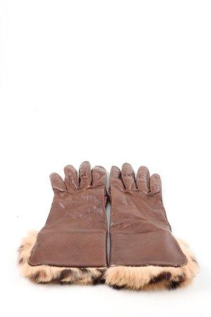 Roeckl Leren handschoenen bruin-room zakelijke stijl