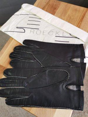 Roeckl Guantes de cuero negro