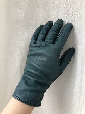 Roeckl Leather Gloves petrol-cadet blue leather