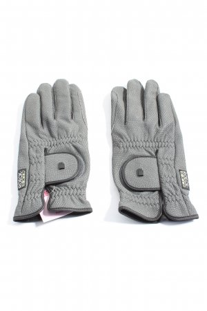 Roeckl Faux Leather Gloves light grey casual look