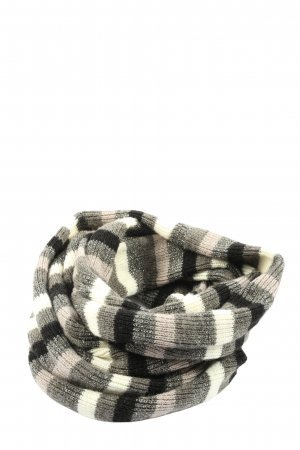 Roeckl Snood natural white-light grey striped pattern casual look