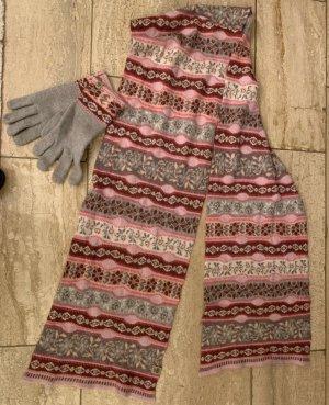 Roeckl Sciarpa di lana argento-rosa chiaro