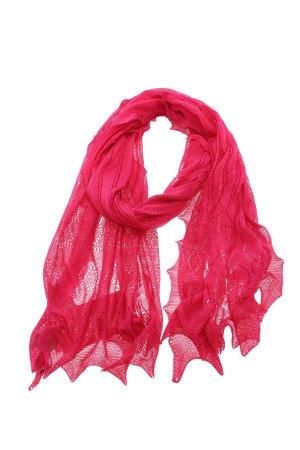 Roeckl Écharpe en soie rose Motif de tissage style décontracté