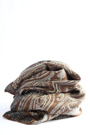 Roeckl Chal veraniego marrón-blanco estampado con diseño abstracto look casual