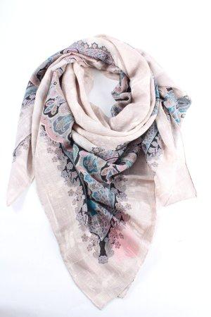 Roeckl Sommerschal pink-blau abstraktes Muster Casual-Look