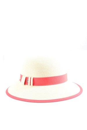 Roeckl Kapelusz przeciwsłoneczny kremowy-czerwony W stylu casual