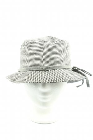 Roeckl Fabric Hat black-white check pattern casual look