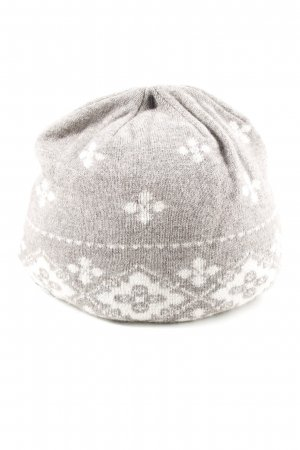 Roeckl Cappello in tessuto bianco sporco-bianco motivo astratto stile casual