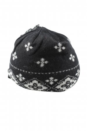 Roeckl Fabric Hat black-white graphic pattern casual look