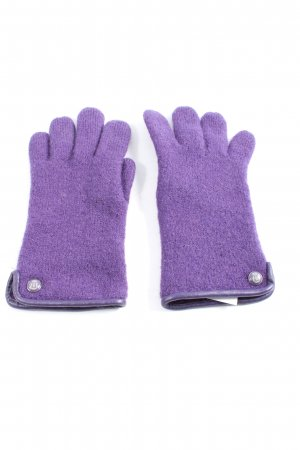 Roeckl Knitted Gloves lilac casual look