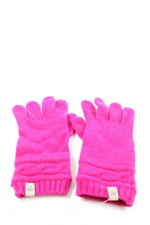 Roeckl Knitted Gloves pink cable stitch casual look