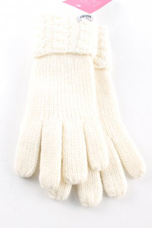 Roeckl Strickhandschuhe creme Zopfmuster Casual-Look