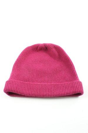 Roeckl Sombrero de punto rosa punto trenzado look casual