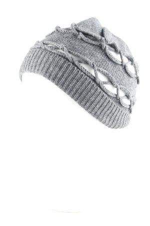 Roeckl Chapeau en tricot gris foncé style décontracté