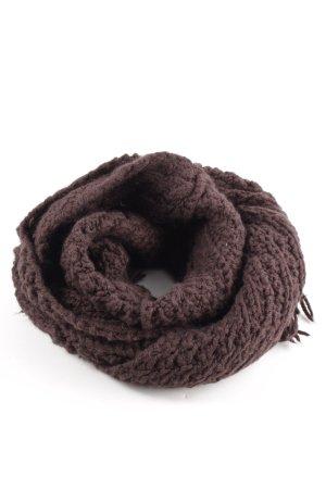 Roeckl Écharpe en tricot brun torsades style décontracté
