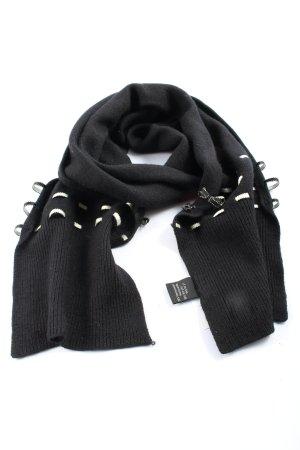 Roeckl Écharpe en tricot noir style décontracté
