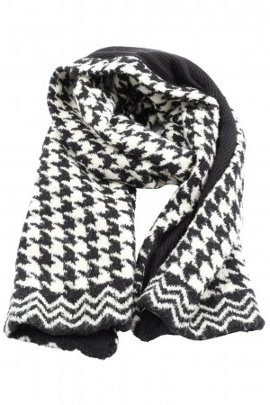 Roeckl Knitted Scarf black-white weave pattern casual look